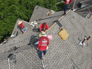 Local katy roofing contractor replaces roof damaged from hail