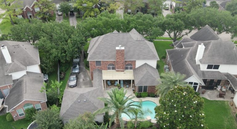 Local Tomball Roofing Company installing new Weathered Wood GAF Timberline HDZ Shingles